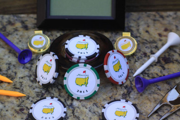 The Masters 2014 Set of Four Poker Chips  Ball Markers