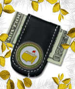 The Masters Green Trim 2013 Leather Money Clip