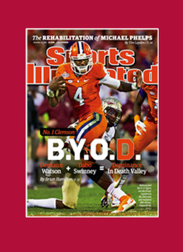 Clemson SI Cover Matted & Frame Ready Red Mat