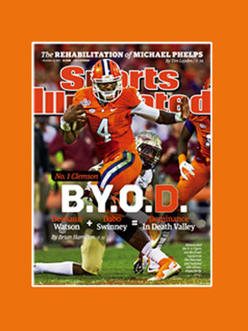 CLEMSON's Deshawn Watson SI COVER MATTED & FRAME READY 11/15/15