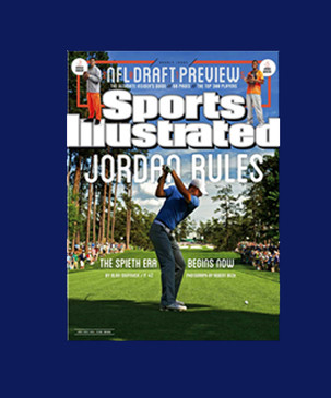 Jordan Spieth SI Cover Jordan Rules Blue Matted Framed Ready