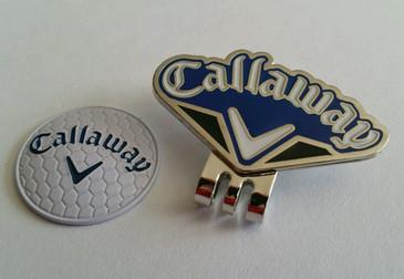 Callaway Blue &  Black Fan Ball Marker and Hat Clip - Sale