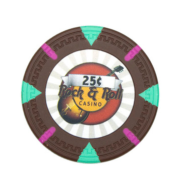 Rock & Roll Cafe Poker Chip Ball Markers Set of 5 - Variety of Colors