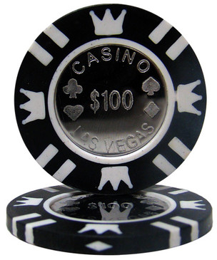 Coin Inlay Black Poker Chip Ball Marker - Outstanding Set of Five