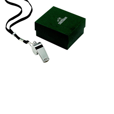 Coach's Whistle Stainless with Lanyard- Free Engraving One Side