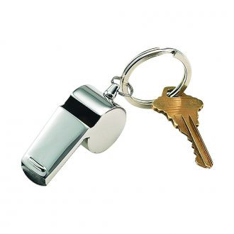 Coach.s Whistle - Keychain / Free Engraving / Name or Three Intials