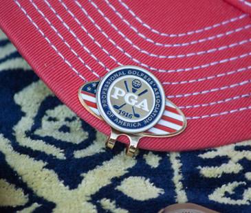 PGA Logo & US Hat Clip