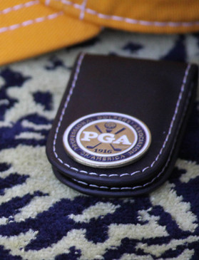 PGA Leather Money Clip