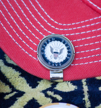 US Dept of the Navy Ball Marker and Hat Clip!