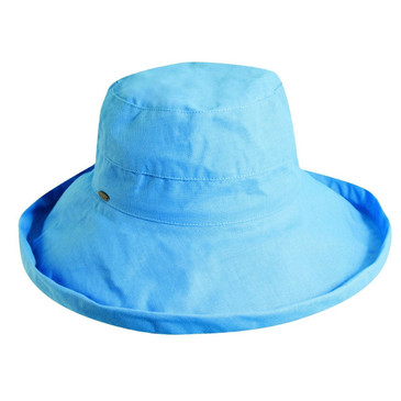New Scala Womens Cotton 4 Inch Brim UPF 50+ Travel Sun Hat