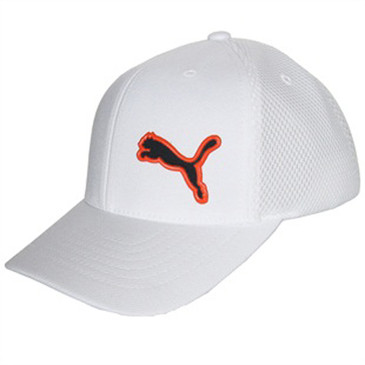 Puma White with Orange Logo Golf Hat