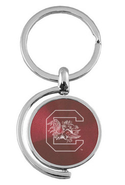 University of South Carolina Personalized Spinning Keytag - Free Engraving