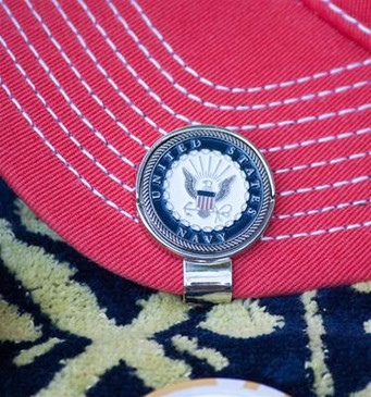 United States Navy Ball Marker and Hat Clip Enamel