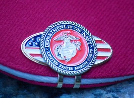 US Marine Corp Ball Marker / & America Hat Clip