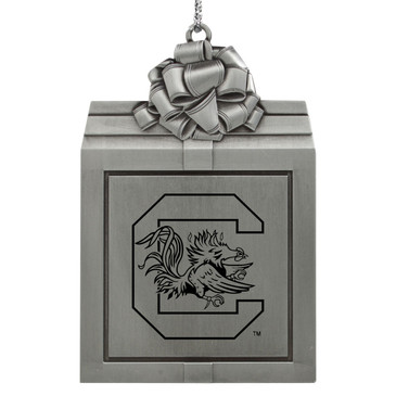 University of South Carolina Holiday Ornaments- Pewter Present Free Engraving