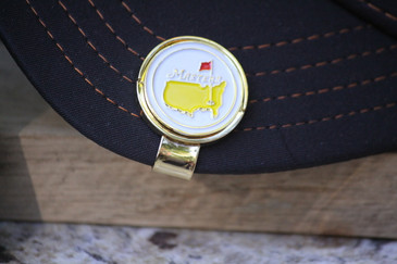 The Masters White Ball Marker & Hat Clip - Beautiful Design