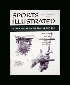 Ben Hogan Sport Illustrated Cover 3/11/57 Single Matted Frame Ready