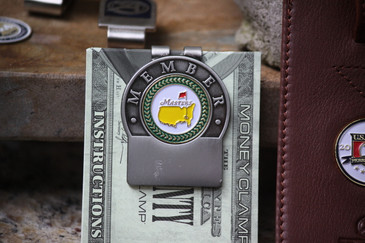 The Masters Green Trim Members Money Clip