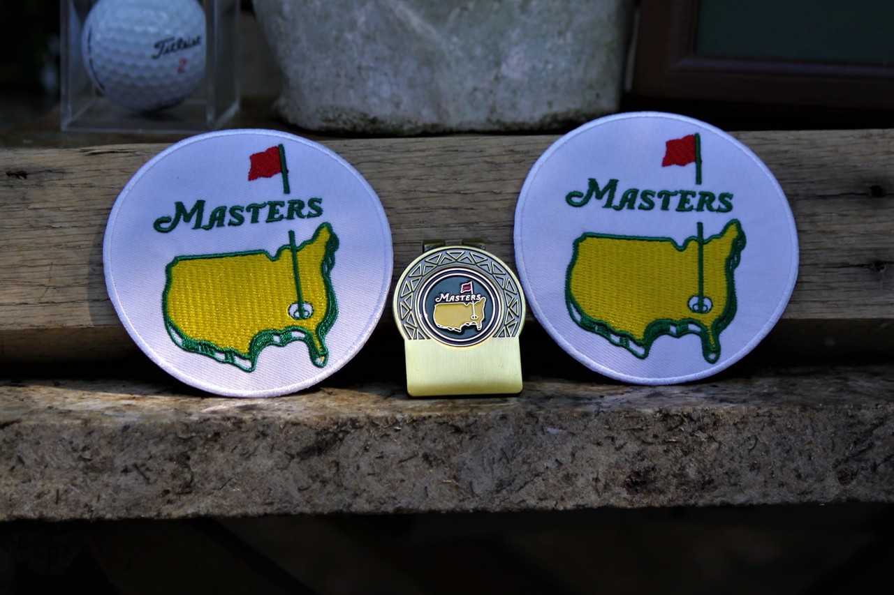 The Masters Green Money Brass clip