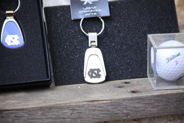 UNC Teardrop Keychain