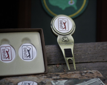 TPC Red Ball Marker & Ahead Turf Dog Divot Tool