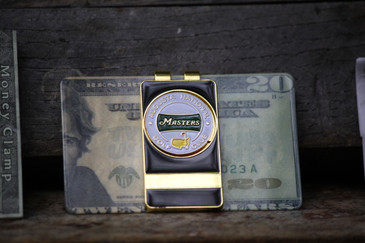 Masters White Banner Money Clip - Ball Marker removable