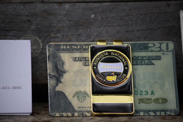 The Masters Black Banner Money Clip Removable Ball Marker