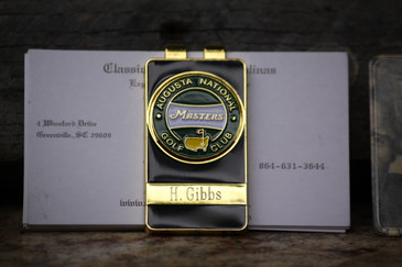The Masters Green Banner Money Clip
