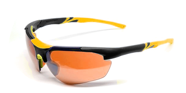 Maxx Ray Sunglasses with Black and Yellow Accents