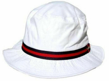 Dorfman Pacific White Bucket Hat- Medium