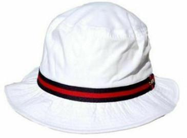 Dorfman Pacific White Bucket Hat- Medium