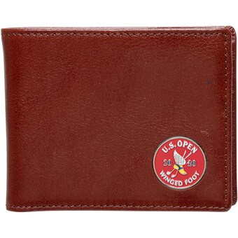 US Open Brown Wallet Money Clip Two Fold