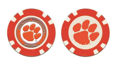 Clemson Poker Chip with Removable Ball Marker