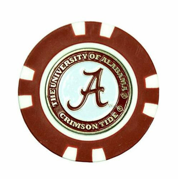 Alabama Poker Chip / Removable Ball Marker