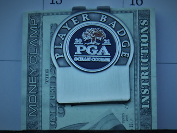 The PGA Championship 2021 Blue Nickel Money Clip