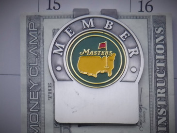 The Masters Solid Green Nickel Money Clip