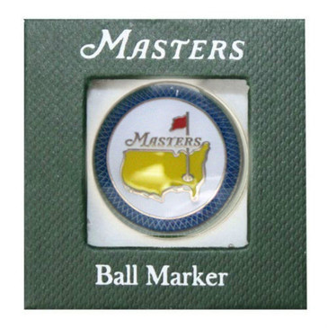 The Masters  2015 Championship Ball Marker Blue Trim Jordan Spieth Winner