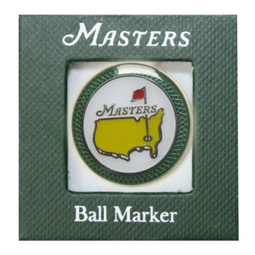 The Masters Championship Ball Marker & Hat Clip / Green  2015 Jordan Spieth