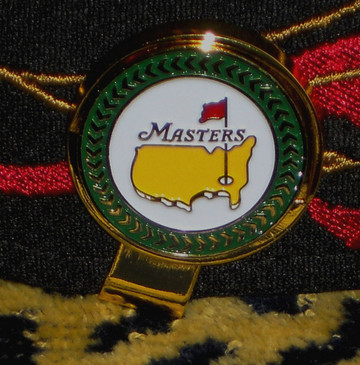 The Masters Championship Ball Marker & Hat Clip  / Black Background