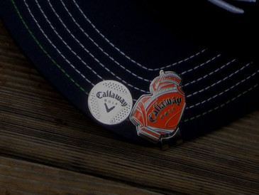 Callaway Golf Ball Marker Hat Clip  Orange White & Black Letters - Japan New