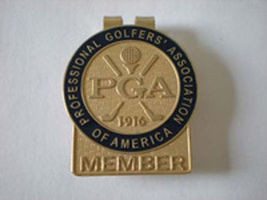 PGA Money Clip - Gold Tab Free Bonus Green Trim Masters Ball Marker 2015