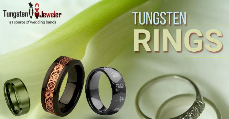 Tungsten Diamonds Rings