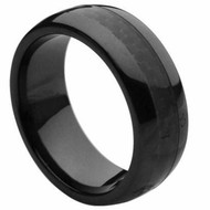 Ceramic Ring With Black Carbon Fiber Inlay