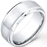 Cobalt Chrome Wedding Band Ring 9mm
