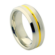 Cobalt Chrome Wedding Band Ring Gold