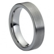 "Cobalt Ring Flat Brushed ""Pipe Cut"""