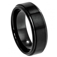Cobalt Ring Black Enamel Plated