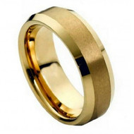 Cobalt Ring  Gold Plated Center & Shiny Beveled Edge