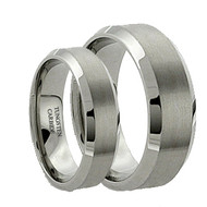His & Hers Tungsten Mattle Ring Set