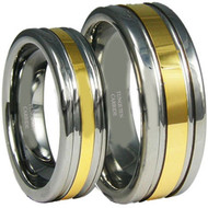 His & Hers Tungsten Ring Set 18k